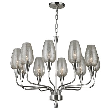 Shown in Polished Nickel finish,  10 Lights