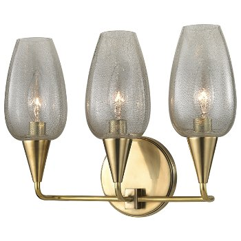 Shown in Aged Brass finish, 3 Lights