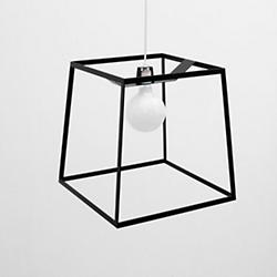 Frame Light Pendant (White Cord/Black/Large) - OPEN BOX