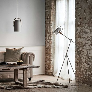 Carronade Spot Pendant with Carronade Adjustable Floor Lamp
