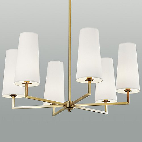 Temple 6 light chandelier by ilex at lumens com