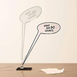 What We Do Counts LED Table Lamp