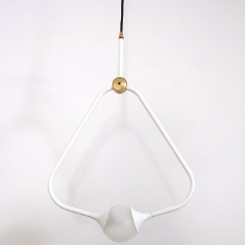 Shown in White finish with Black Cord