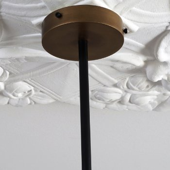 Shown unlit in Powder Coated Black Finish, Polished Dark Bronze accents