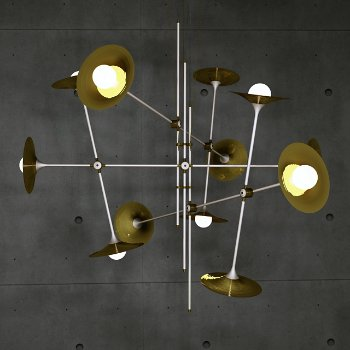 Bullarum ST-12 Chandelier with Discs