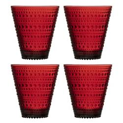 Kastehelmi Cranberry Set of 4 Tumblers