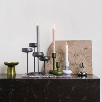 Nappula Candleholder with Nappula Pillar Candleholder and Nappula Candelabra 10.25 inch