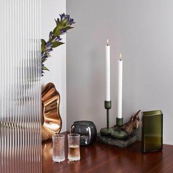 Nappula Candleholder with Ruutu Vase and Ultima Thule Set of 2 Champagne Glasses - Wirkkala Anniversary