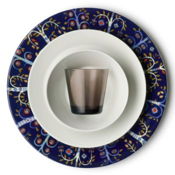 Teema Salad Plate with iittala Kartio Medium Tumblers and iittala Taika Dinner Plates