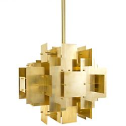 Puzzle Chandelier (Antique Brass) - OPEN BOX RETURN