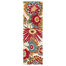 Belize Indoor / Outdoor Floral Runner Rug