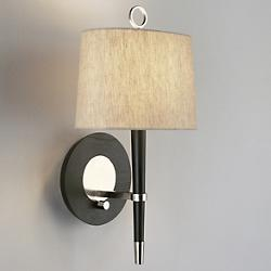 Ventana Wall Sconce (Ebony Wood/Polished Nickel) - OPEN BOX