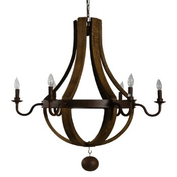 Shown in Natural finish with Rustic Chain
