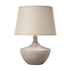 Basketweave Table Lamp