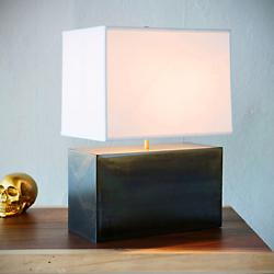 Shoe Box Table Lamp (Smoke Patina) - OPEN BOX RETURN