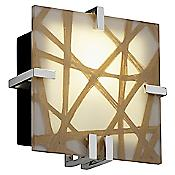 3form Clips 8 Inch Square Wall Sconce