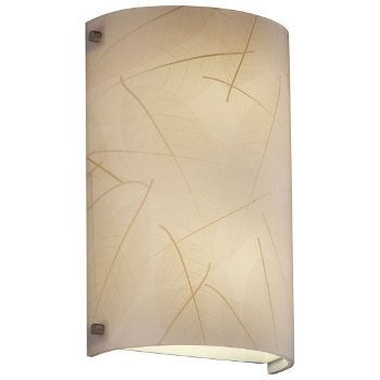 Shown in Brushed Nickel finish, Fossil Leaf