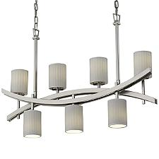 Limoges Archway 4-Up and 3-Downlight Crossbar Linear Suspension