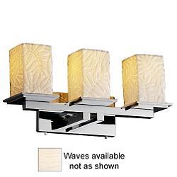 Limoges Montana Bath Bar (Waves/Chrome/3 Lights) - OPEN BOX
