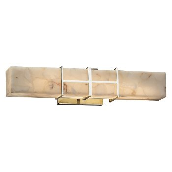 Alabaster Rocks! Structure Linear LED Bath Bar
