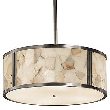 Alabaster Rocks Tribeca Drum Pendant Light