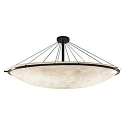 Clouds 72-Inch Round Bowl w/ Ring Semi-Flushmount