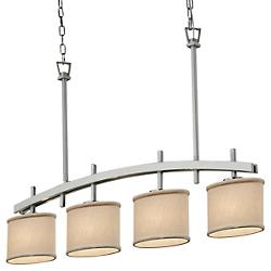 Textile Archway 4-Downlight Linear Suspension