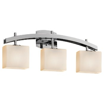 Shown in Opal shade, Polished Chrome finish, 3 Light