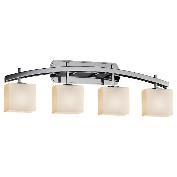 Shown in Opal shade, Polished Chrome finish, 4 Light