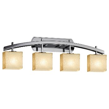 Shown in Droplet shade, Polished Chrome finish, 4 Light