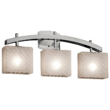 Shown in Weave shade, Brushed Nickel finish, 3 Light