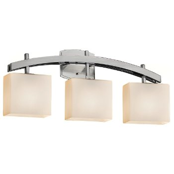 Shown in Opal shade, Brushed Nickel finish, 3 Light