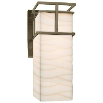 Shown in Waves shade, Brushed Nickel finish, Large size