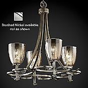 Fusion Mercury Glass Arcadia Chandelier (Nickel) - OPEN BOX