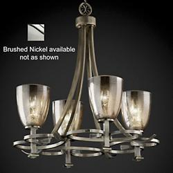 Fusion Mercury Glass Arcadia Chandelier (Nickel) - OPEN BOX