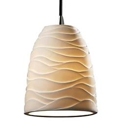 Limoges Mini Tapered Pendant (Waves/Dark Bronze) - OPEN BOX