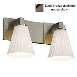 Fusion Cone Ribbon Shade Modular Bath Bar (Bronze) - OPEN BOX