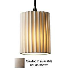 Limoges Mini Flat Rim Pendant (Sawtooth/Bronze) - OPEN BOX