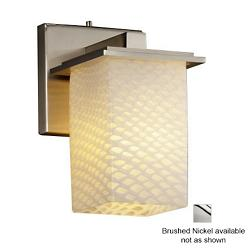 Fusion Montana Wall Sconce (Ribbon/Nickel) - OPEN BOX RETURN
