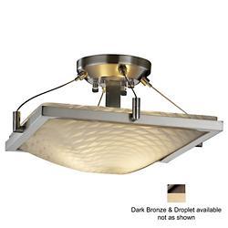 Fusion Square Semi-Flush Bowl w Ring (Droplet/Brnz)-OPEN BOX