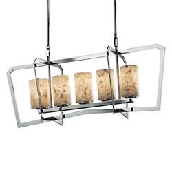 Alabaster Rocks! Aria 5 Light Linear Suspension