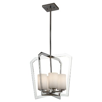 Shown in Polished Chrome finish with Ribbon Shade
