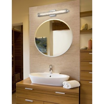 Shown in Polished Chrome finish with Mercury Shade, 23-Inch, in use