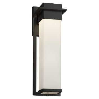 Shown in Matte Black finish with Opal Shade, Large size