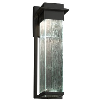 Shown in Matte Black finish with Rain Shade, Large size