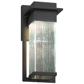 Shown in Matte Black finish with Rain Shade, Small size