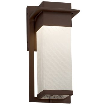Shown in Dark Bronze finish with Weave Shade, Small size