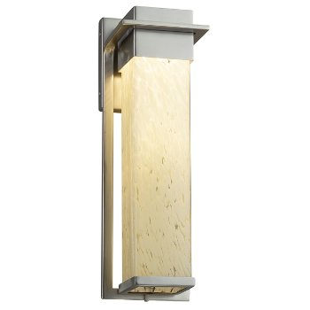 Shown in Brushed Nickel finish with Droplet Shade, Large size