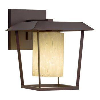 Shown in Dark Bronze finish with Droplet Shade