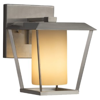 Shown in Brushed Nickel finish with Almond Shade